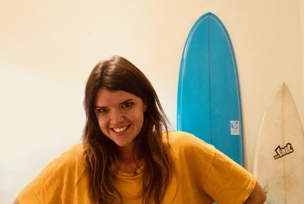 Graduate Holly is making her own waves in the surfing event scene