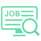 job icon showing computer screen with magnifying glass