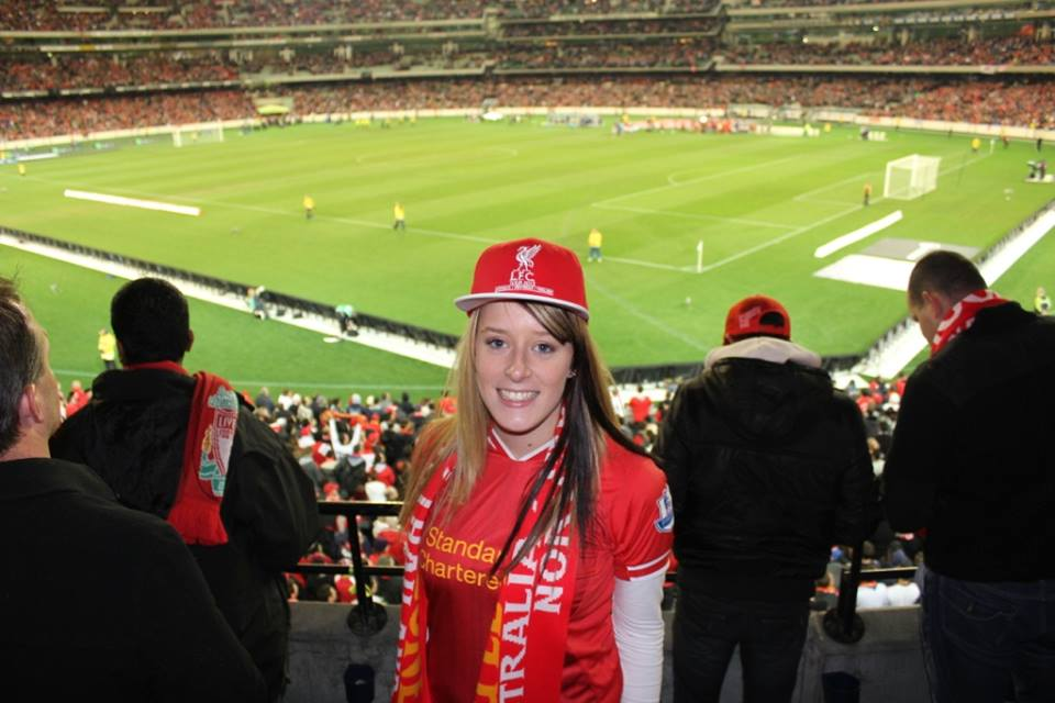 Candice at one of the big matches.