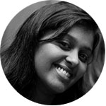 Black and white head shot of event manager Mahalia