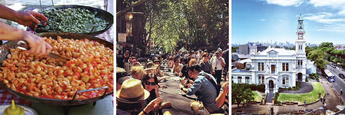 Montage of photos relating to Leichhardt Long Lunch Sydney