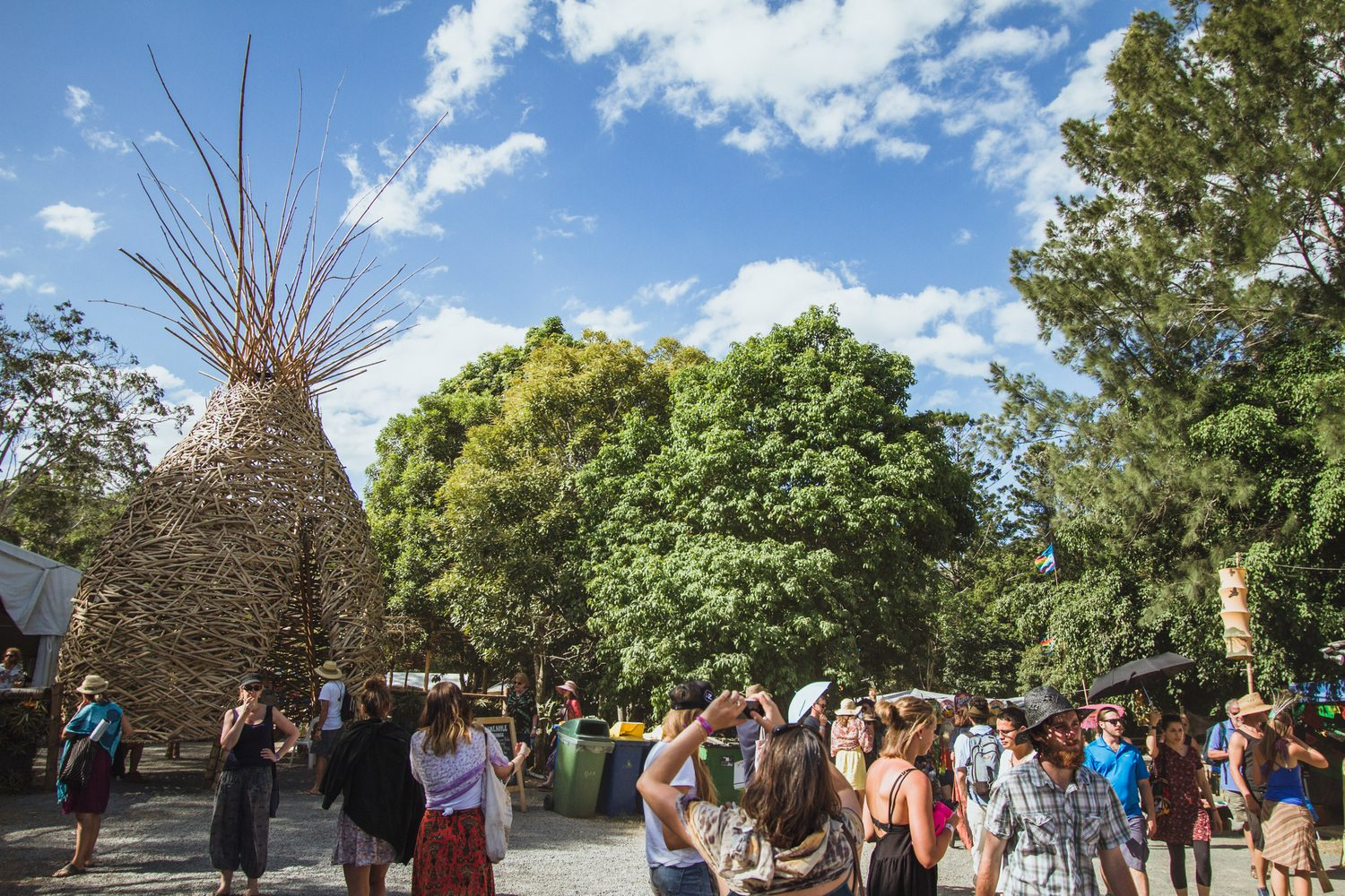 Pineapple Lounge Sculpture - Woodford Festival