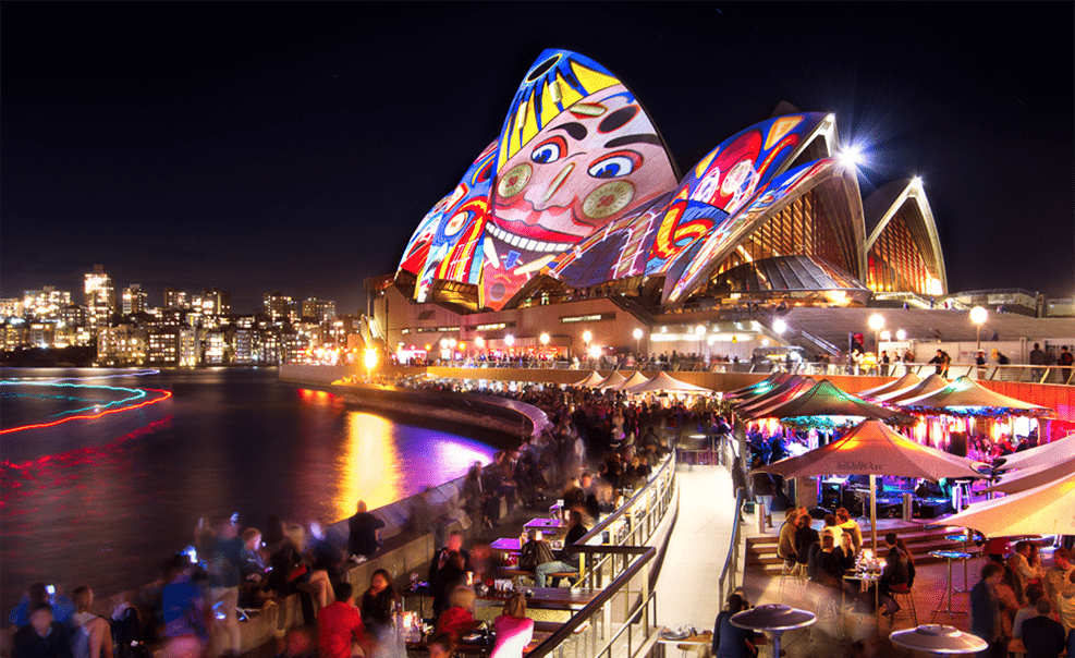 Opera House Light Show at Vivid