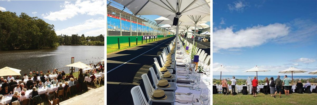 Photo montage of Worlds Longest Lunch - Melbourne